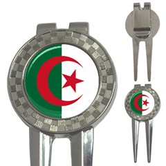 Roundel Of Algeria Air Force 3 In 1 Golf Divots by abbeyz71
