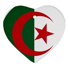 Roundel Of Algeria Air Force Heart Ornament (two Sides) by abbeyz71