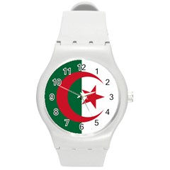 Roundel Of Algeria Air Force Round Plastic Sport Watch (m)