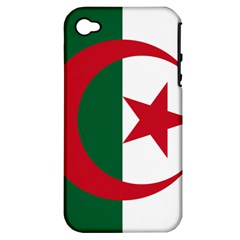 Roundel Of Algeria Air Force Apple Iphone 4/4s Hardshell Case (pc+silicone) by abbeyz71