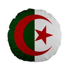 Roundel Of Algeria Air Force Standard 15  Premium Round Cushions by abbeyz71