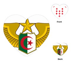 Badge Of The Algerian Air Force  Playing Cards (heart)  by abbeyz71