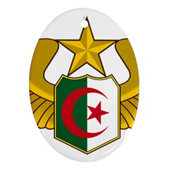 Badge Of The Algerian Air Force  Oval Ornament (two Sides) by abbeyz71