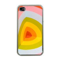 Graffiti Orange Lime Power Blue And Pink Spherical Abstract Retro Pop Art Design Apple Iphone 4 Case (clear) by MAGA