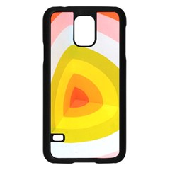 Graffiti Orange Lime Power Blue And Pink Spherical Abstract Retro Pop Art Design Samsung Galaxy S5 Case (black)