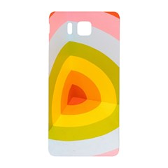 Graffiti Orange Lime Power Blue And Pink Spherical Abstract Retro Pop Art Design Samsung Galaxy Alpha Hardshell Back Case by MAGA