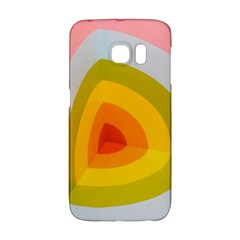 Graffiti Orange Lime Power Blue And Pink Spherical Abstract Retro Pop Art Design Galaxy S6 Edge