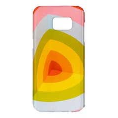 Graffiti Orange Lime Power Blue And Pink Spherical Abstract Retro Pop Art Design Samsung Galaxy S7 Edge Hardshell Case