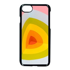 Graffiti Orange Lime Power Blue And Pink Spherical Abstract Retro Pop Art Design Apple Iphone 7 Seamless Case (black)