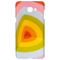 Graffiti Orange Lime Power Blue And Pink Spherical Abstract Retro Pop Art Design Samsung C9 Pro Hardshell Case  by MAGA