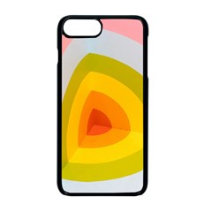 Graffiti Orange Lime Power Blue And Pink Spherical Abstract Retro Pop Art Design Apple Iphone 8 Plus Seamless Case (black) by snek