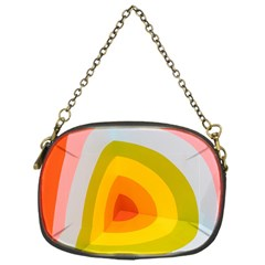 Graffiti Orange Lime Power Blue And Pink Spherical Abstract Retro Pop Art Design Chain Purses (one Side)  by MAGA