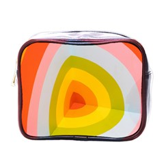 Graffiti Orange Lime Power Blue And Pink Spherical Abstract Retro Pop Art Design Mini Toiletries Bags