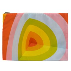 Graffiti Orange Lime Power Blue And Pink Spherical Abstract Retro Pop Art Design Cosmetic Bag (xxl)  by MAGA