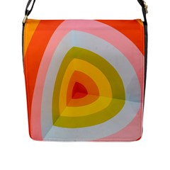 Graffiti Orange Lime Power Blue And Pink Spherical Abstract Retro Pop Art Design Flap Messenger Bag (l)  by MAGA