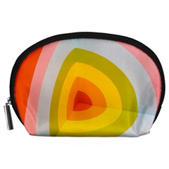 Graffiti Orange Lime Power Blue And Pink Spherical Abstract Retro Pop Art Design Accessory Pouches (large)  by MAGA