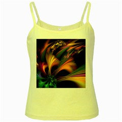 Color Burst Abstract Yellow Spaghetti Tank