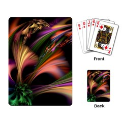 Color Burst Abstract Playing Card