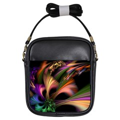 Color Burst Abstract Girls Sling Bags