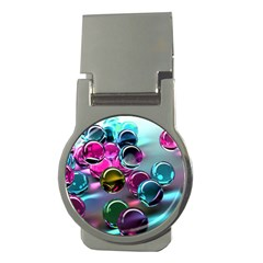 Colorful Balls Of Glass 3d Money Clips (round)