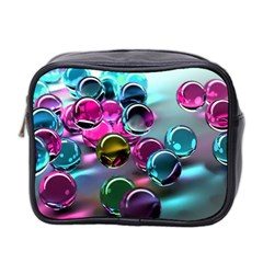 Colorful Balls Of Glass 3d Mini Toiletries Bag 2 Side by Sapixe