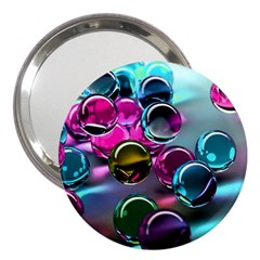 Colorful Balls Of Glass 3d 3  Handbag Mirrors by Sapixe