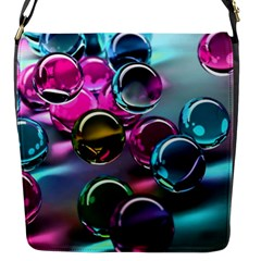 Colorful Balls Of Glass 3d Flap Messenger Bag (s) by Sapixe