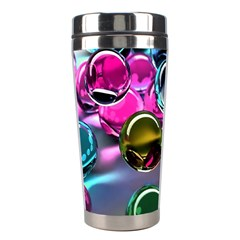 Colorful Balls Of Glass 3d Stainless Steel Travel Tumblers