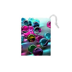 Colorful Balls Of Glass 3d Drawstring Pouches (xs)  by Sapixe