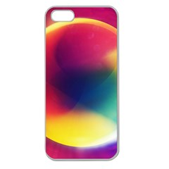 Colorful Glowing Apple Seamless Iphone 5 Case (clear) by Sapixe