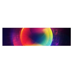 Colorful Glowing Satin Scarf (oblong)