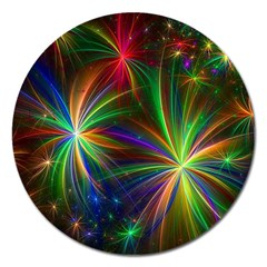 Colorful Firework Celebration Graphics Magnet 5  (round) by Sapixe