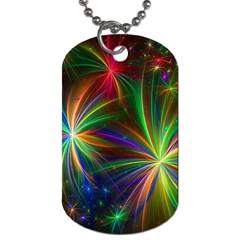 Colorful Firework Celebration Graphics Dog Tag (one Side)