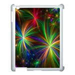 Colorful Firework Celebration Graphics Apple iPad 3/4 Case (White) Front