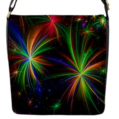 Colorful Firework Celebration Graphics Flap Messenger Bag (s) by Sapixe