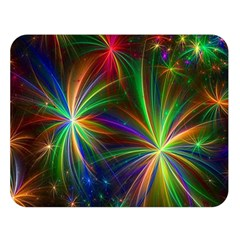 Colorful Firework Celebration Graphics Double Sided Flano Blanket (large)  by Sapixe