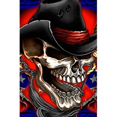 Confederate Flag Usa America United States Csa Civil War Rebel Dixie Military Poster Skull 5 5  X 8 5  Notebooks by Sapixe