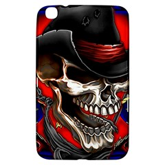 Confederate Flag Usa America United States Csa Civil War Rebel Dixie Military Poster Skull Samsung Galaxy Tab 3 (8 ) T3100 Hardshell Case  by Sapixe