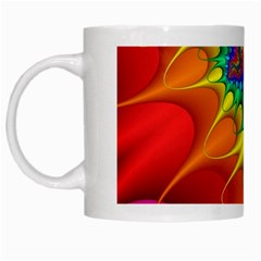 Colorful Trippy White Mugs