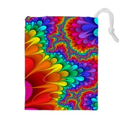 Colorful Trippy Drawstring Pouches (extra Large)