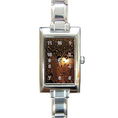 Condensation Abstract Rectangle Italian Charm Watch by Sapixe