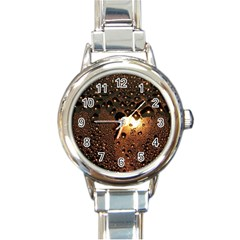 Condensation Abstract Round Italian Charm Watch by Sapixe