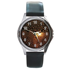 Condensation Abstract Round Metal Watch by Sapixe