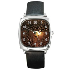 Condensation Abstract Square Metal Watch by Sapixe