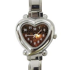 Condensation Abstract Heart Italian Charm Watch by Sapixe