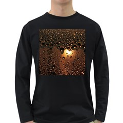 Condensation Abstract Long Sleeve Dark T Shirts by Sapixe