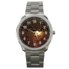 Condensation Abstract Sport Metal Watch by Sapixe