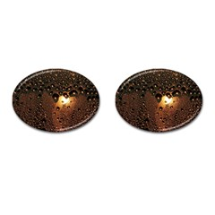 Condensation Abstract Cufflinks (oval) by Sapixe