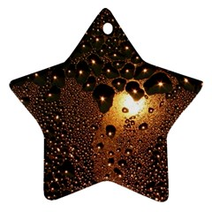 Condensation Abstract Star Ornament (two Sides) by Sapixe