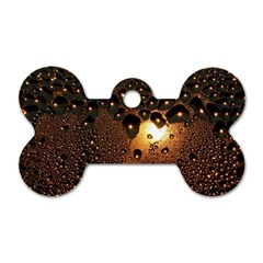 Condensation Abstract Dog Tag Bone (two Sides) by Sapixe